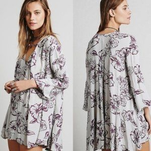 Free People Tree Swing Hobo Floral Tunic Dress